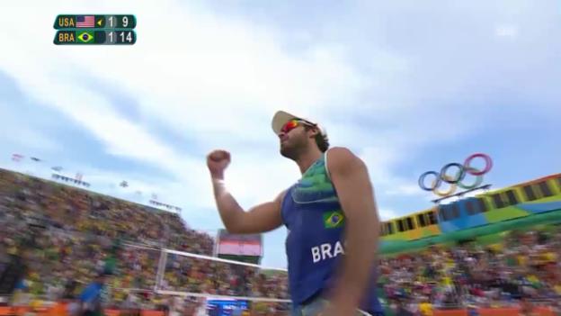 Video «Alison/Bruno gewinnen vorgezogenen Final gegen die USA» abspielen