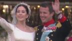 Video «Verliebt wie damals: Hochzeitstag beim dänischen Kronprinzenpaar» abspielen