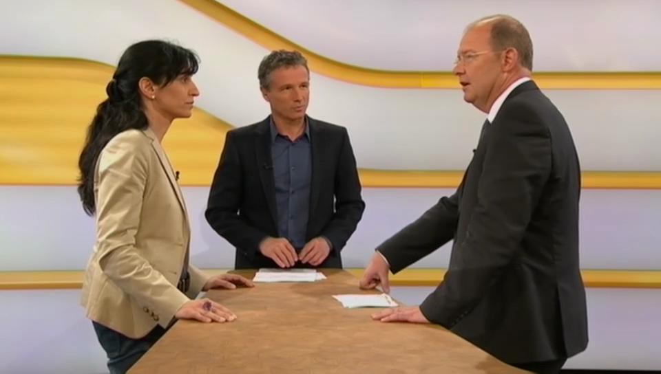 Studiogespräch mit Vania Alleva von der Unia und Valentin Vogt vom Schweizerischen Arbeitgeberverband