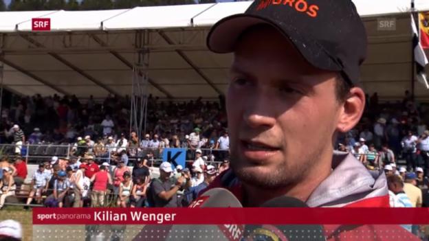 Video «Schwingen: Wenger gewinnt Bernisch-Kantonales («sportpanorama»)» abspielen