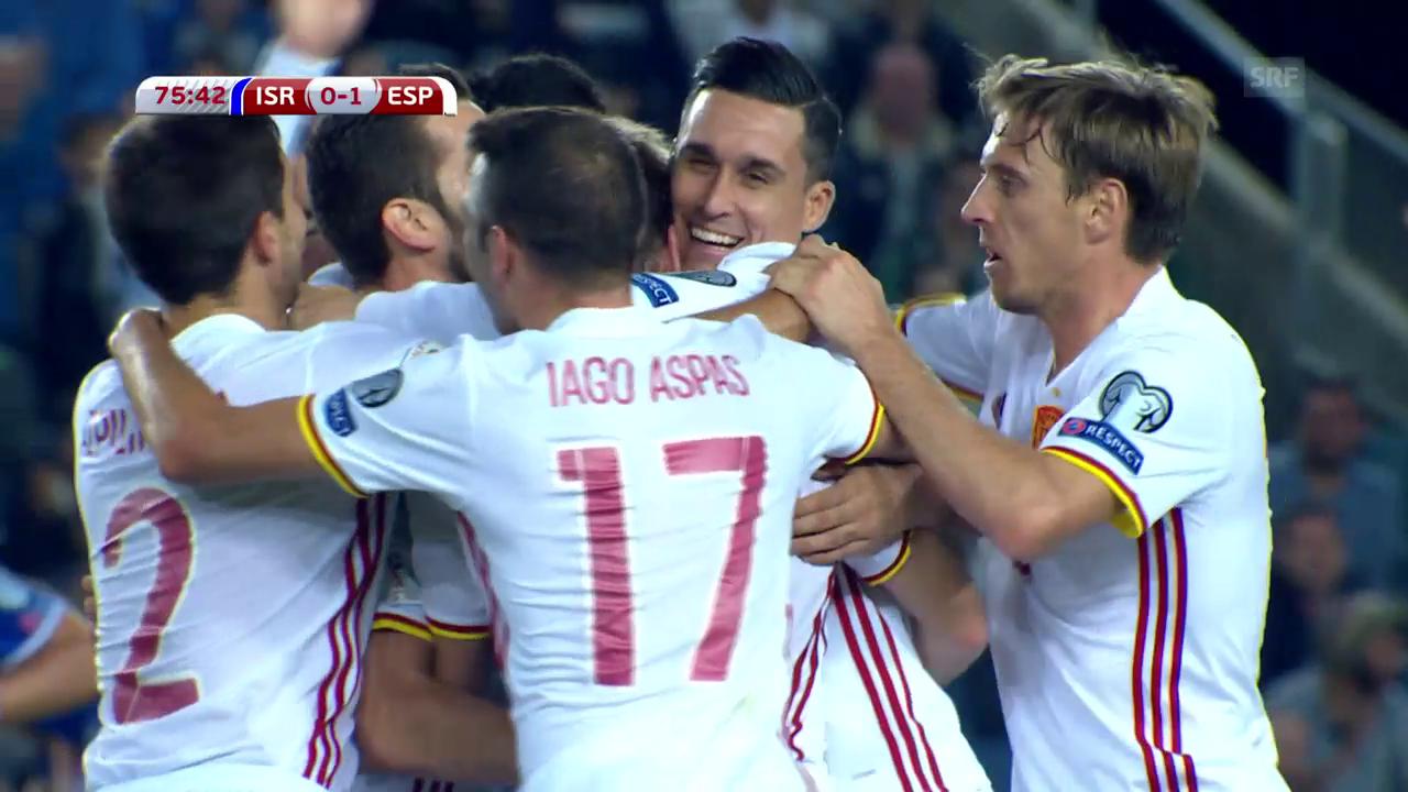 Mickriger 1:0-Sieg für Spanien in Israel
