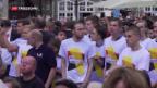 Video «Angela Merkel auf grosser Wahlkampftour» abspielen