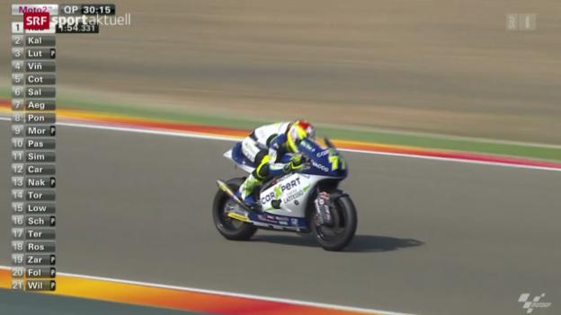 Video «Motorrad: GP Aragon, Qualifikation Moto2» abspielen