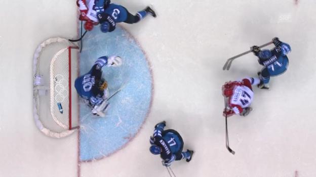 Video «Eishockey: Zusammenfassung Russland-Finnland (19.02.2014)» abspielen