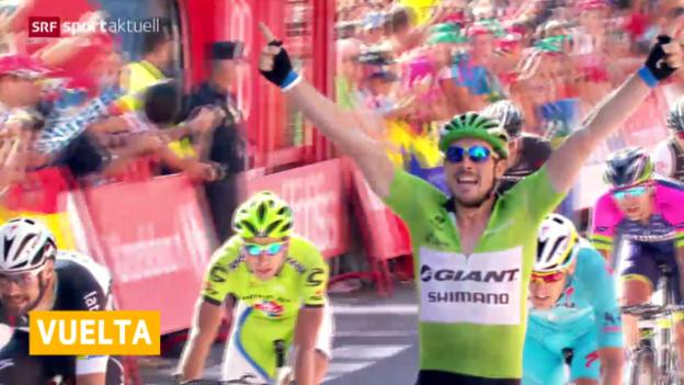 Video «Rad: Degenkolb gewinnt 12. Etappe der Vuelta» abspielen