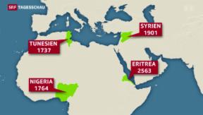 Video «Ein Viertel weniger Asylgesuche» abspielen