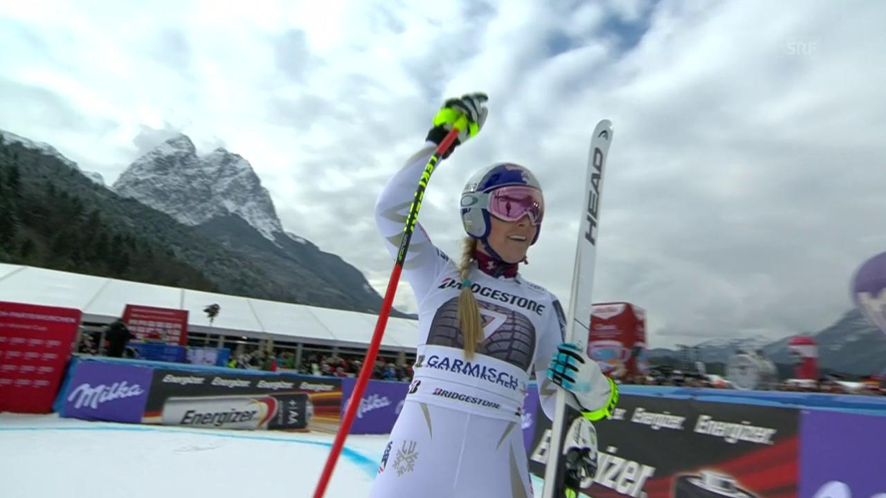 Vonn gewinnt die Abfahrt in Garmisch
