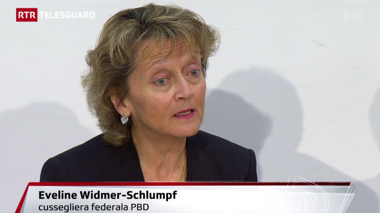Eveline Widmer-Schlumpf declera sias raschuns