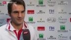 Video «Tennis: Davis Cup, Interview mit Roger Federer» abspielen
