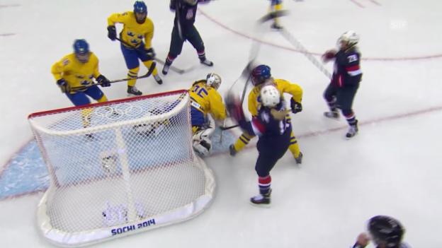Video «Eishockey Frauen: Die Tore bei USA - Schweden (sotschi direkt, 17.04.2014)» abspielen