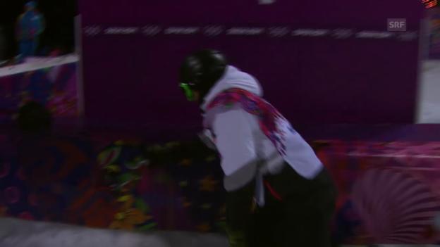 Video «Snowboard Halfpipe: 2. Final-Run von Ayumu Hirano (sotschi direkt, 11.02.2014)» abspielen