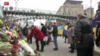 Video «Ukraine gedenkt der Opfer vom Maidan» abspielen