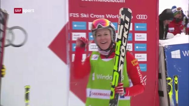 Video «Skicross: Weltcup in Grasgehren («sportpanorama»)» abspielen
