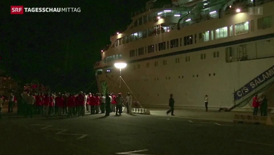 Probleme bei syrischen Flüchtlingen auf Kreuzfahrtschiff