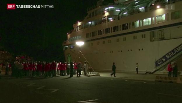 Video «Probleme bei syrischen Flüchtlingen auf Kreuzfahrtschiff» abspielen
