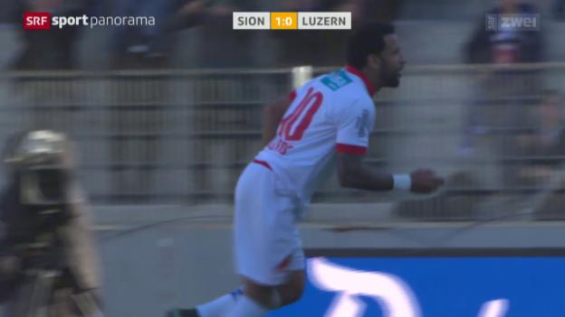 Video «Fussball: Carlitos' 1:0 gegen Luzern» abspielen