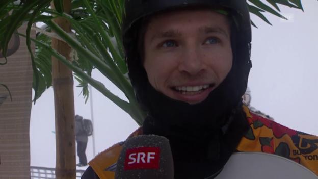 Video «Snowboard: European Open, Halfpipe, Interview mit Sieger Podladtchikov» abspielen