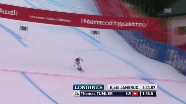 Video «Ski alpin: Super-G in Gröden, Thomas Tumler» abspielen