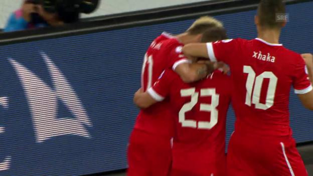Video «Tore bei Schweiz-Albanien (11.09.2012)» abspielen