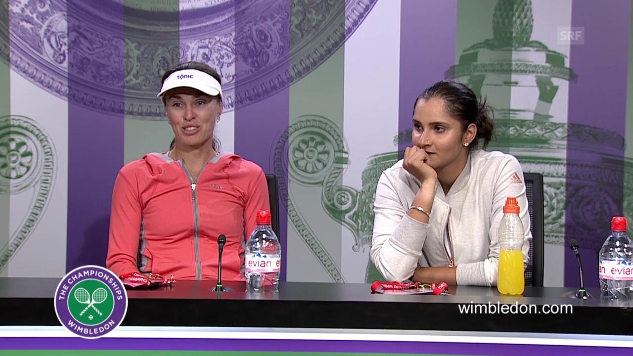 Tennis: Wimbledon 2015, Doppel-Final Frauen, Interview Hingis (englisch)