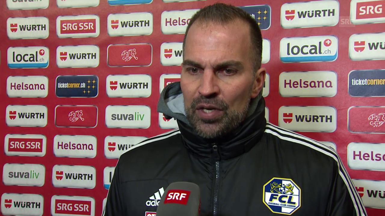Markus Babbel im Interview nach dem Cup-Halbfinal