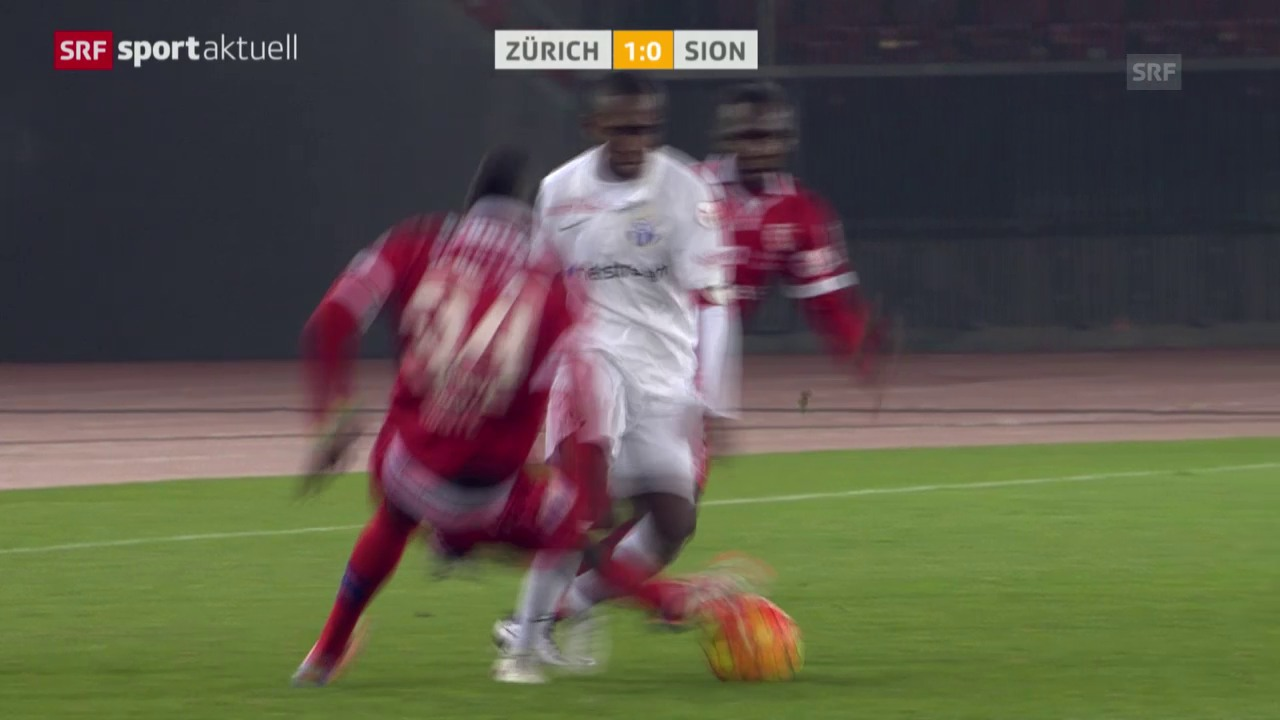Fussball: Super League, FCZ-Sion, rote Karte Ndoye