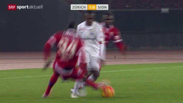 Video «Fussball: Super League, FCZ-Sion, rote Karte Ndoye» abspielen