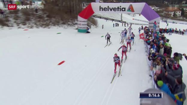 Video «Östberg baut Vorsprung auf Johaug aus» abspielen