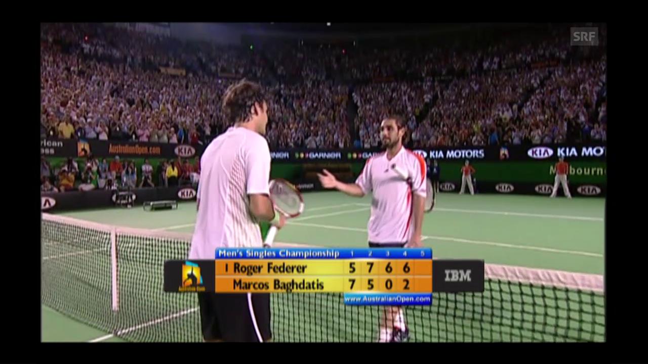 2006: Federer bezwingt Baghdatis