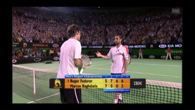 Video «2006: Federer bezwingt Baghdatis» abspielen