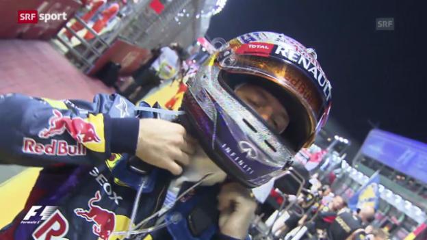 Video «Vettel gewinnt GP Singapur («sportpanorama»)» abspielen