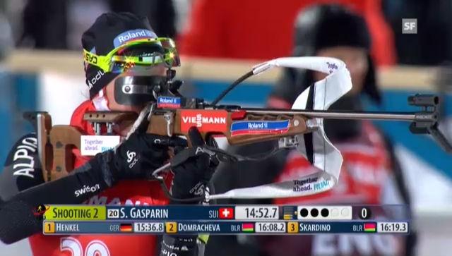 Biathlon: Selina Gasparin beim 2. Schiessen («sportlive»)