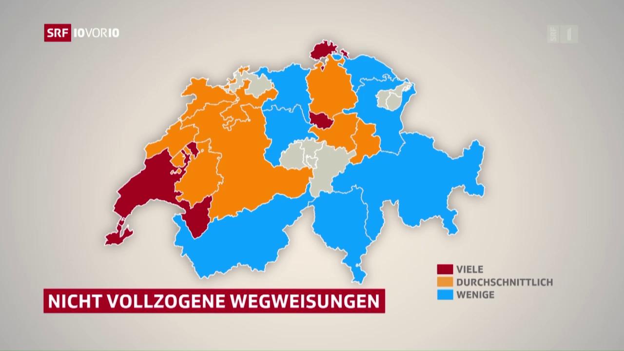 Kantonsvergleich: Rückschaffung Asylbewerber