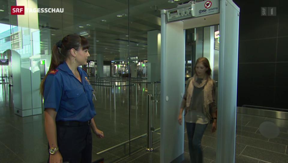 Sprengstoff-Kontrollen am Flughafen