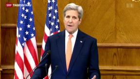 Video «Kerry und Lawrow einigen sich auf Waffenruhe » abspielen