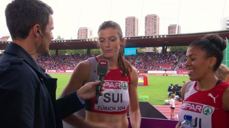 Video «Leichtathletik-EM: Interview mit Kambundji und Lea Sprunger» abspielen