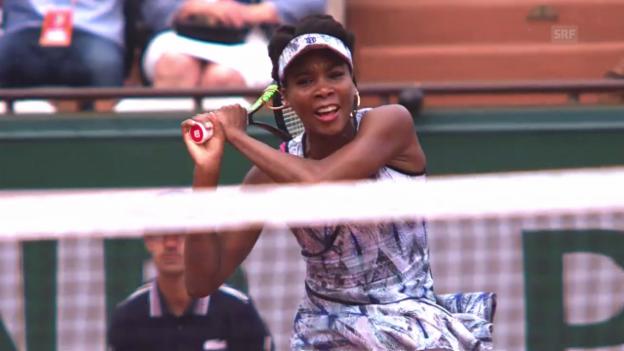 Video «20. Teilnahme: Jubiläum für Venus Williams in Paris» abspielen
