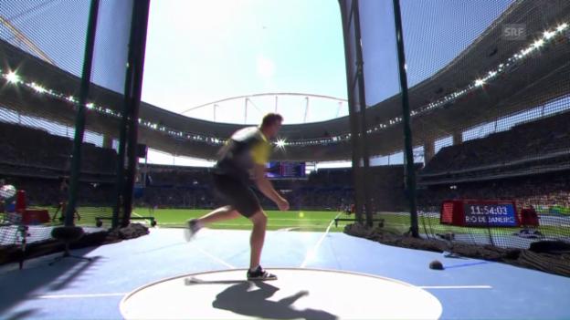 Video «Gold im Diskus: Harting düpiert die Konkurrenz» abspielen
