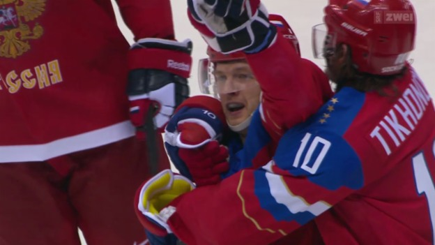Video «Eishockey: Russland - Norwegen» abspielen