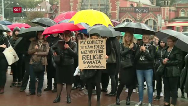 Video «Polnisches Abtreibungsgesetz abgelehnt» abspielen