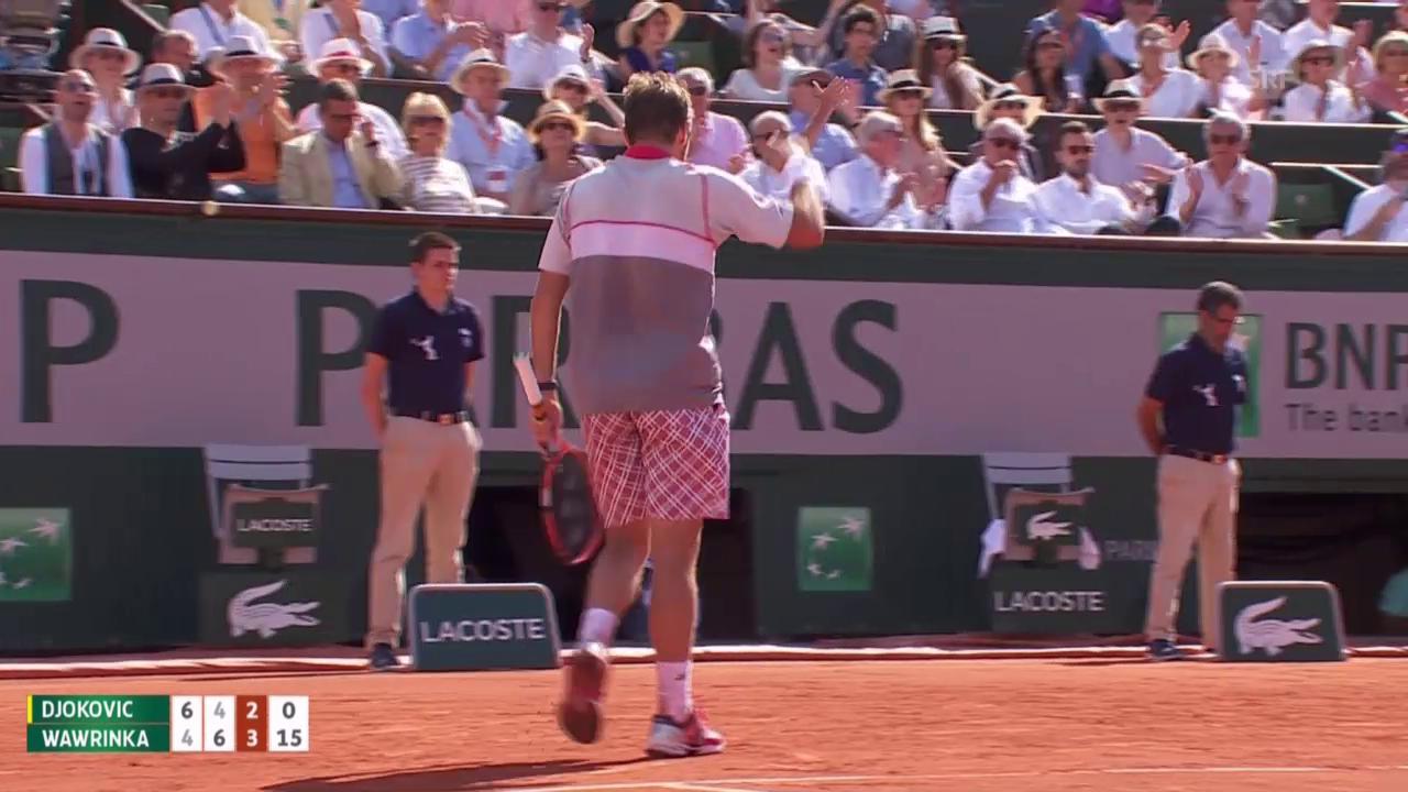 Tennis: French Open, Final Djoko-Wawrinka, perfektes Returngame
