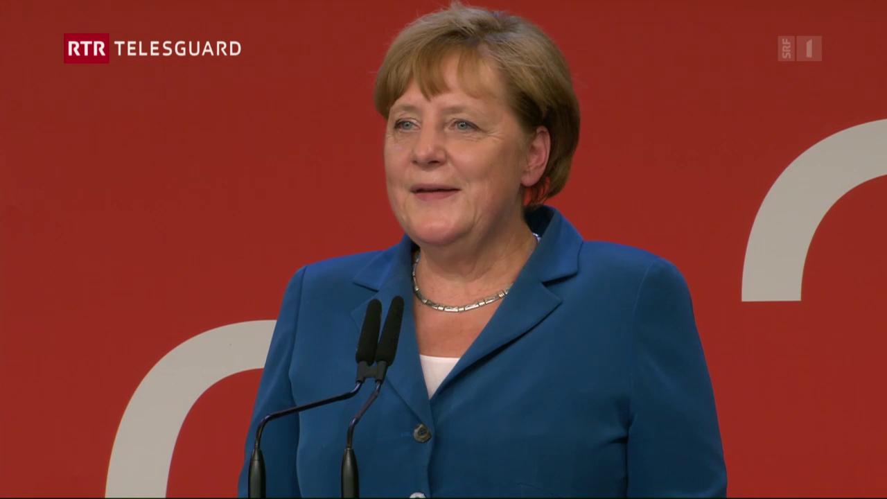 Schefs da stadi laudan la Svizra, tranter auter er Angela Merkel
