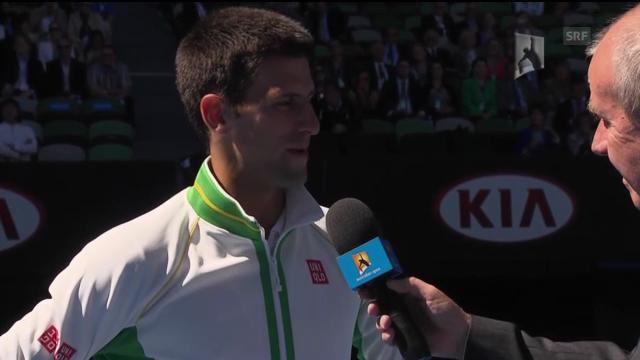 Platzinterview mit Novak Djokovic