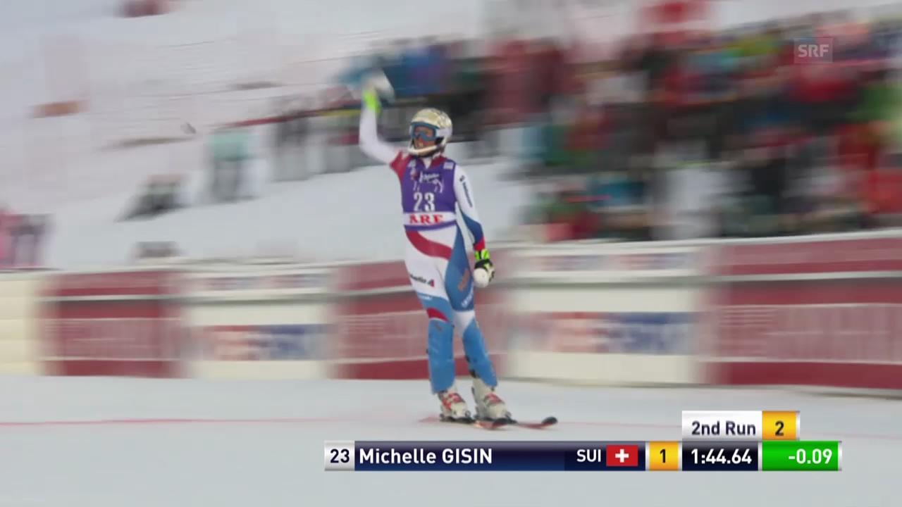 Ski: Weltcup Frauen, Slalom Are, 2. Lauf Michelle Gisin