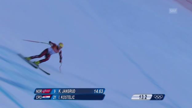 Video «Ski, Kombi-Abfahrt von Ivica Kostelic» abspielen