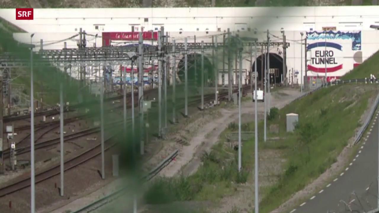 Flüchtlinge stürmen Eurotunnel