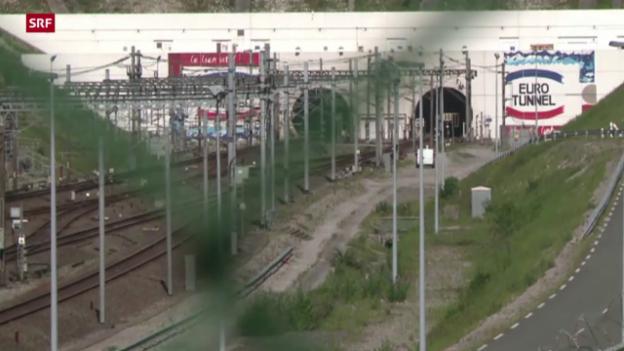 Video «Flüchtlinge stürmen Eurotunnel» abspielen