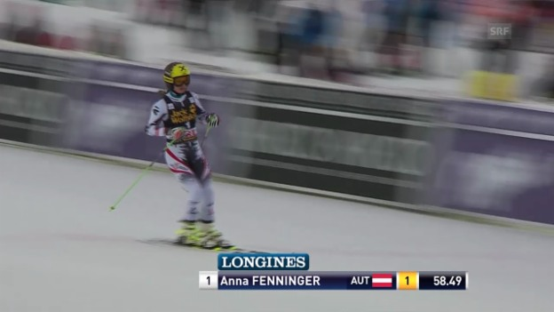 Video «Ski Alpin: Riesenslalom Frauen in Are, 1. Lauf Anna Fenninger («sportlive», 7.3.2014)» abspielen