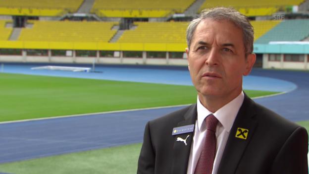 Video «Fussball: Marcel Koller über die EURO-Ziele» abspielen