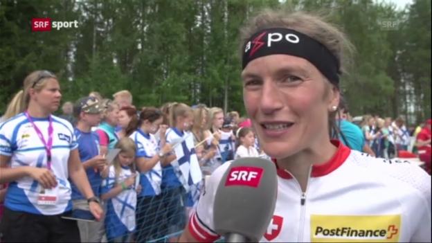 Video «Interview mit Simone Niggli («sportaktuell»)» abspielen